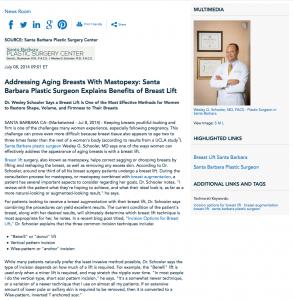 Santa Barabara plastic surgeon, breast lift, breast augmentation, Incision Options for Breast Lift